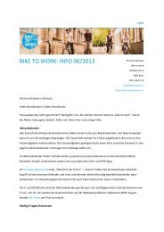 Infomail 6: Koordinierende Ende Mai 2013 - Bike to work