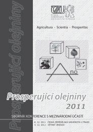 Thomson - Konference, Agro - Agrobiologie
