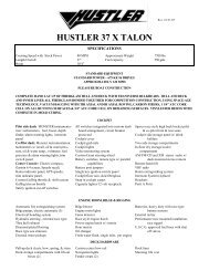 hustler 37 x talon - Funboats