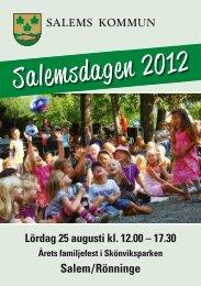 Program för Salemsdagen 2012 - Salems kommun