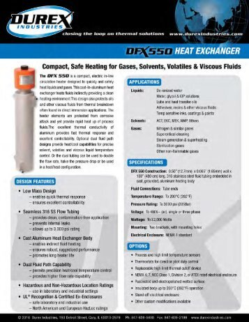 DFX550-0213 Cast Circulation Heaters - Durex Industries