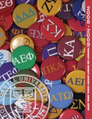 fraternity and sorority advisory council annual repor t - Office of the ...