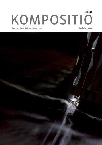Kompositio 04/2012 - Suomen Säveltäjät ry