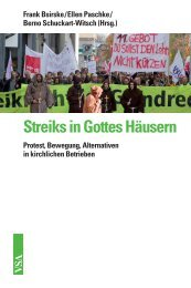 Streiks in Gottes Häusern - VSA Verlag