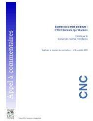 IFRS 8 Secteurs opérationnels - Normes d'information financière et ...