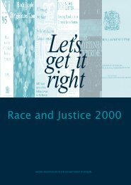 Let's get it right: race and justice 2000 - Nacro