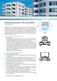Montageanleitung Messkapsel Minolist - Zenner