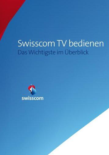 Swisscom TV bedienen - Swisscom Online Shop