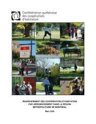Regroupement des coopératives d'habitation par arrondissement ...