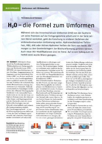 die Formel zum Umformen - bei SCHNUPP GmbH & Co. Hydraulik KG