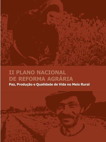 ii plano nacional de reforma agrária - Sistemas MDA - Ministério do ...