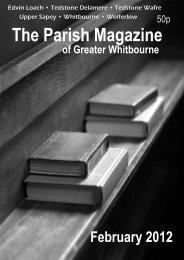 The Parish Magazine - Parish of Greater Whitbourne