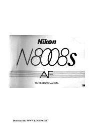 Nikon N8008s AF Instruction Manual