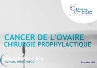 Cancer de l'ovaire - chirurgie prophylactique