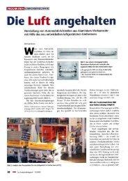 Die Luft angehalten - bei Schnupp GmbH & Co. Hydraulik KG