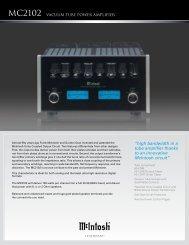 MC2102 VACUUM TUBE POWER AMPLIfiER