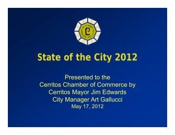 State of the City 2012 - City of Cerritos
