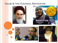 The Rise of Islamic Ideology - College of Humanities