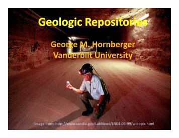 Geologic Repositories