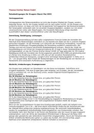 Thomas Grether Reisen GmbH Reisebedingungen für Gruppen ...