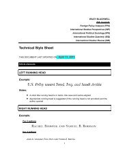 Technical Style Sheet - Wiley