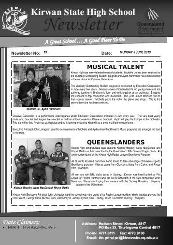 Newsletter_no_13_3-June-2013 - Kirwan State High School