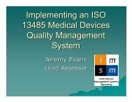 Implementing an ISO 13485 Medical Devices Quality Management ...