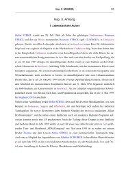 Das Musikleben in Umhausen von 1798 bis heute