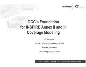 OGC's Foundation for INSPIRE Annex II and III Coverage Modeling