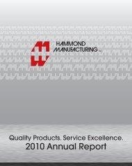 2010 Annual Report - Hammond Mfg.