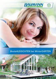 BesteAussichten bei Wintergärten - BAUMANN/GLAS/1886 GmbH