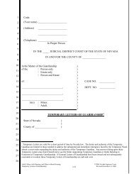Temporary Letters of Guardianship - Supreme Court of Nevada Law ...