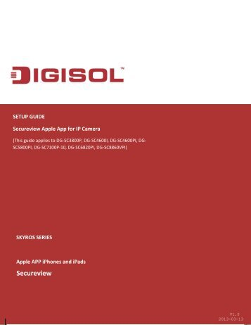 Secureview Apple App - Digisol.com