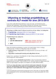 Utlysning av treåriga projektbidrag ur centrala ... - Umeå universitet