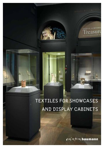 textiles for showcases and display cabinets - Création Baumann AG