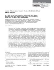 Influence of Electronic and Structural Effects on the Oxidative ...