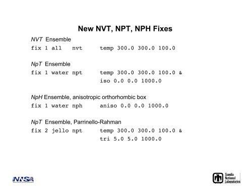 NPT Dynamics, Minimization and Elastic Constants for