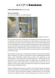 Health Care Kollektion - Création Baumann