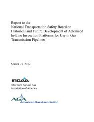 Report to the National Transportation Safety Board on ... - PRCI