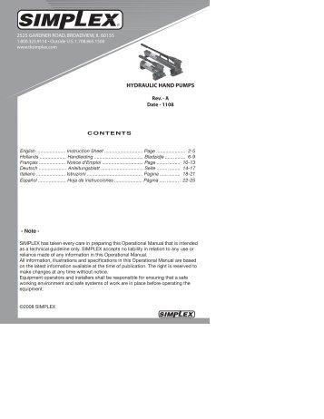 pump instr. 6-06 - Simplex
