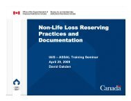 Non-Life Loss Reserving Practices and Documentation - CNSF