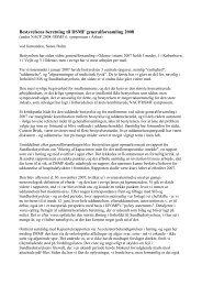 Bestyrelsens beretning til DSMF generalforsamling 2008