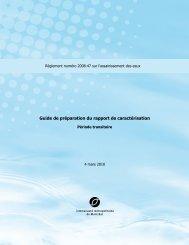 Guide de préparation du rapport de caractérisation - Communauté ...