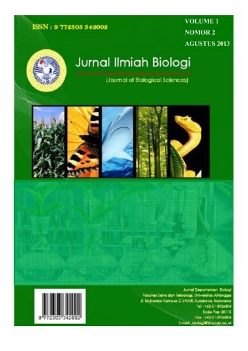 Jurnal Ilmiah Biologi Vol. 1 No.2 Maret 2013