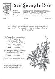Wir wünschen allen Franzfeldern und Freunden ... - Die Franzfelder