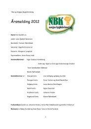 Årsmelding 2012 - Bygdekvinnelaget