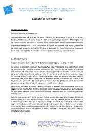BIOGRAPHIE DES ORATEURS - ESKA