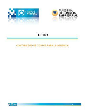 contabilidad de costos para la gerencia - Uovirtual.com.mx