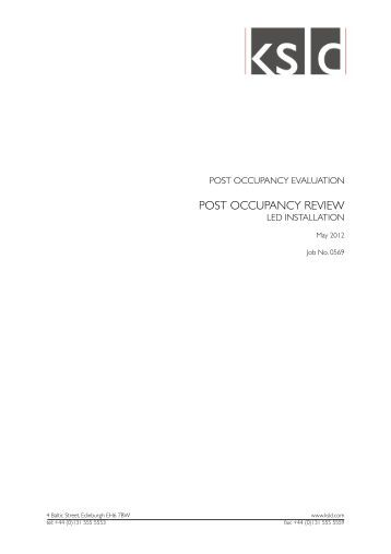 post occupancy evaluation performance criteria