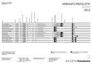 VERKAUFS-PREISLISTE GECKO 2012 - bei Designers-home